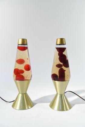 Pair Of Vintage Lava Lamps Lava Lamp Vintage Pictures Antiques