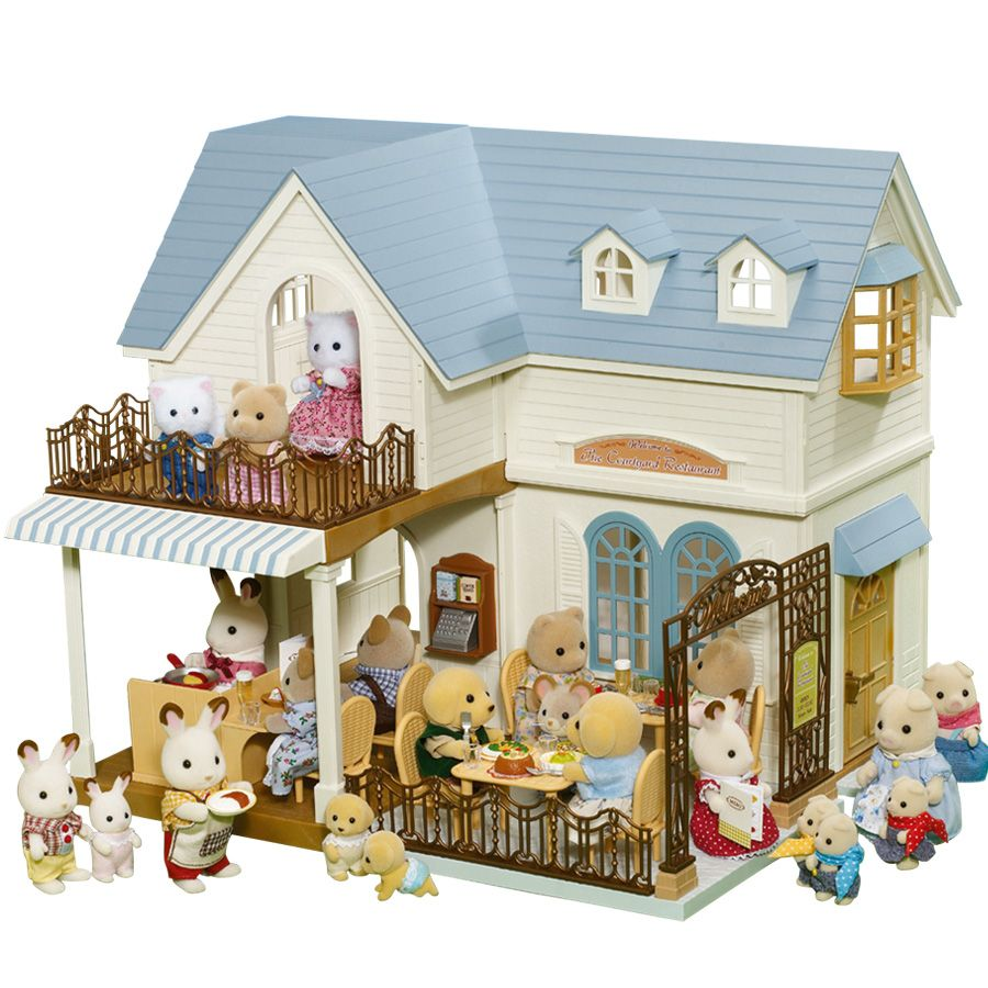 Sylvanian families courtyard restaurant kids pinterest casa mu ecas casitas de mu ecas y - Casitas de tela para ninos toysrus ...