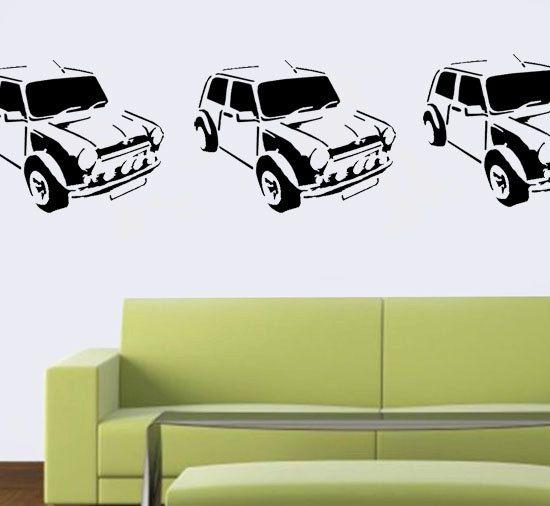 Mini Cooper stencil, car décor stencil, painting stencils for many - peinture porte et fenetre