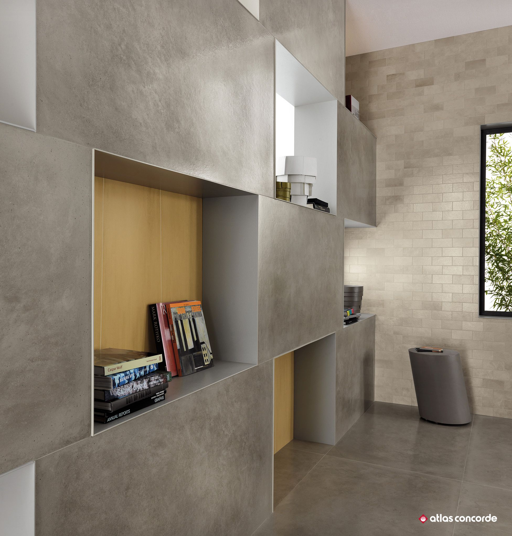Resin And Concrete Look Porcelain Floor Tiles For Design Projects Contemporary Interior Design Flooring Porcelain Flooring