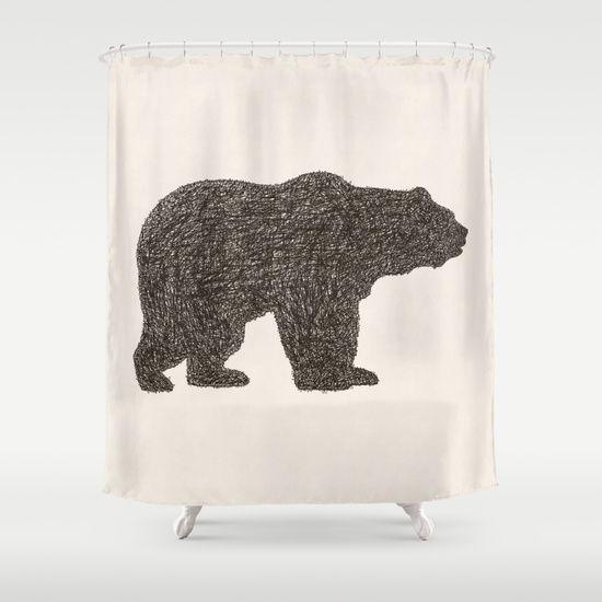 Grizzly Bear Shower Curtain Bear Rug Rugs Area Throw Rugs