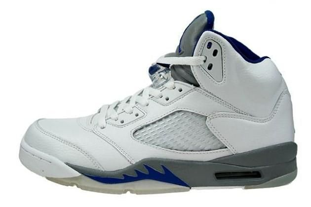 Air Jordan 5 (V) Retro - Stealth - White Sport Royal marked with the top  quality and delicate craftsmanship.