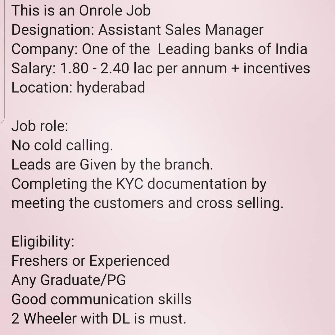 Kami Sedang Mencari Marketing Executive Jika Anda Memenuhi