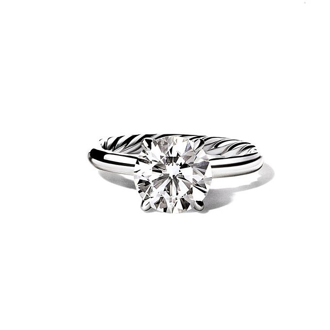 david yurman style wr1050 round cut solitaire diamond engagement ring photos brides - David Yurman Wedding Rings