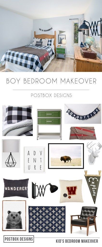 "One Room Challenge REVEAL Boy Bedroom Makeover is part of Kids bedroom Makeover - One Room Challenge Boy Bedroom Makeover Reveal It's here! It's here! It is the final week of the sixweek One Room Challenge …which means I finally get to share all of the pretty ""After"" photos with you! If this is your first week here…I'm right there with you  I've been known to watch the last 10 minutes [ Read More    ] …"
