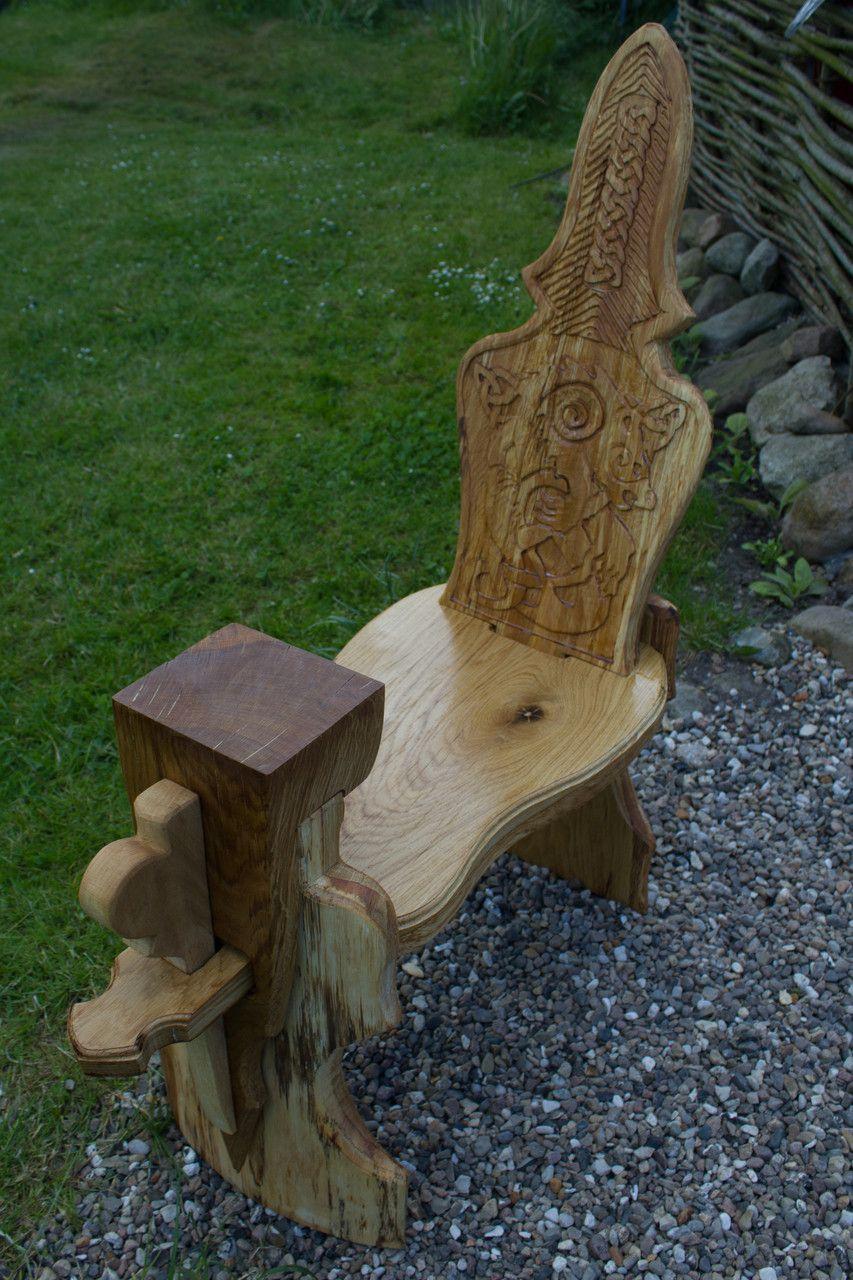 Bildergalerie Stühle Wikinger Holzkunst Schnitzerei