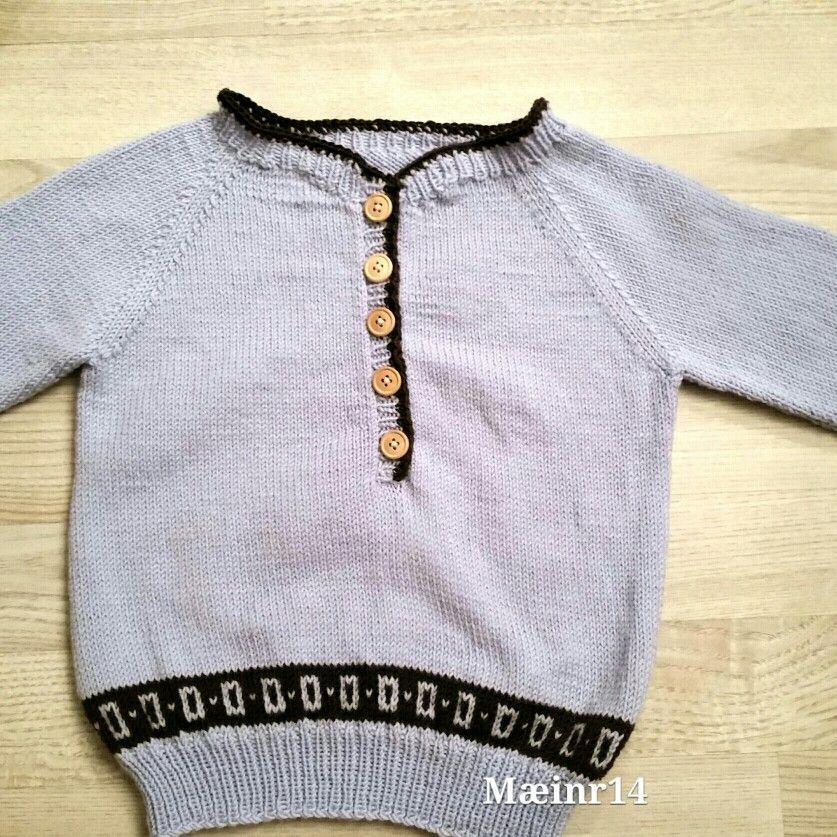 Genser str 2 år fra Den store guttestrikkeboken . Bestefarsgenser strikket Baby merino fra Dropsgarn. Sept 2014