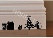 CHRISTMAS TREE MICE MOUSE GIFT skirting wall Car decal Window bus door sticker