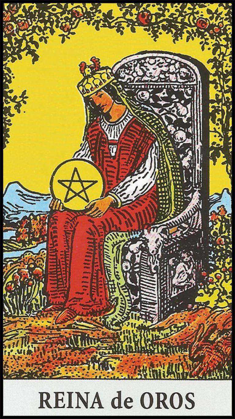 Significado De Reina De Oros Arcanos Menores Pentacles Tarot Tarot Card Meanings Tarot Cards Art