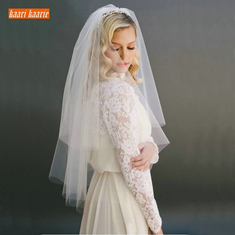 Buy Beautiful Fashion White Short Bridal Veil Two Layer 75cm With Combe Ivory Veils For Wedding Party And Tulle Veiling In 2020 Short Veils Bridal Tulle Veils Ivory Veil [ 960 x 960 Pixel ]