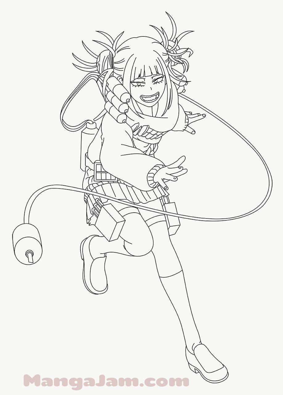 How To Draw Himiko Toga 1 From Boku No Hero Academia Mangajam Com Anime Character Drawing Anime Character Design Toga