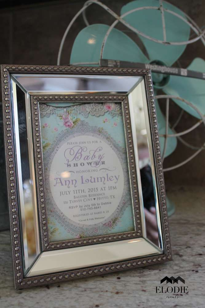 Shabby Chic Baby Shower Party Ideas | Photo 8 of 39