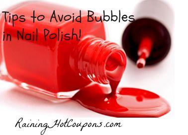 Tips To Avoid Bubbles In Nail Polish Bubbles In Nail Polish Diy Nail Polish Red Nail Polish
