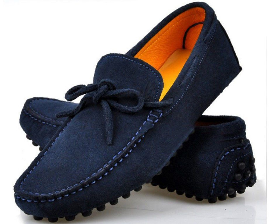 13 Color US Size 5-12 Slip On Leather Mens Casual Driving Moccasin Loafers  Shoes