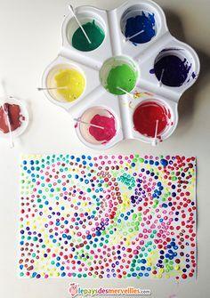 Häufig Peinture enfant avec des coton tiges | Enfants | Pinterest | Coton  HA22