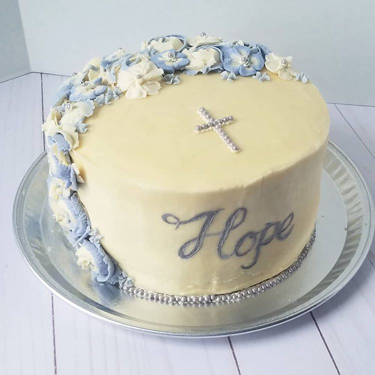 Baptism cake for my little cousin hope this one meant a