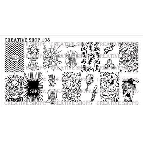 Creative Shop- Stamping Plate- 108