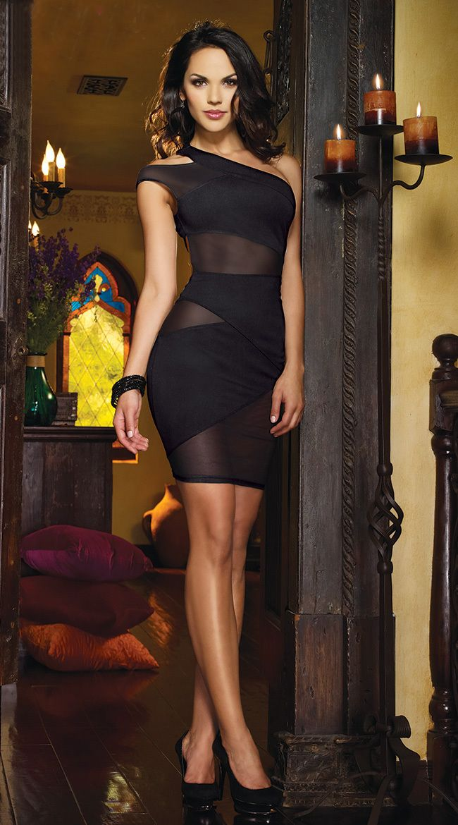 Elegant Black Clubwear. Elegant Black Clubwear Black Cocktail Dress Outfit af1e254569f0