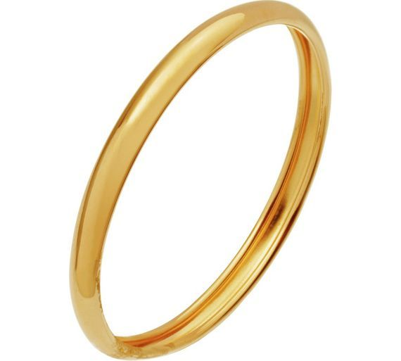 Size G 6 9ct Gold Rolled Edge D Shape Ring 2mm at Argos