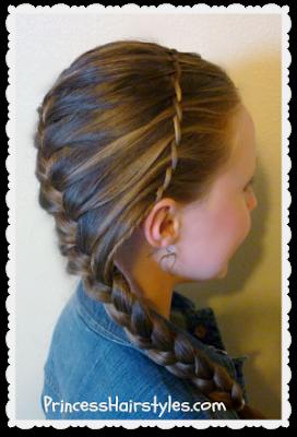 Waterfall Twist Braid Headband And French Braid Hairstyle Princess