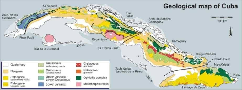 Generalized Geologic Map of Cuba