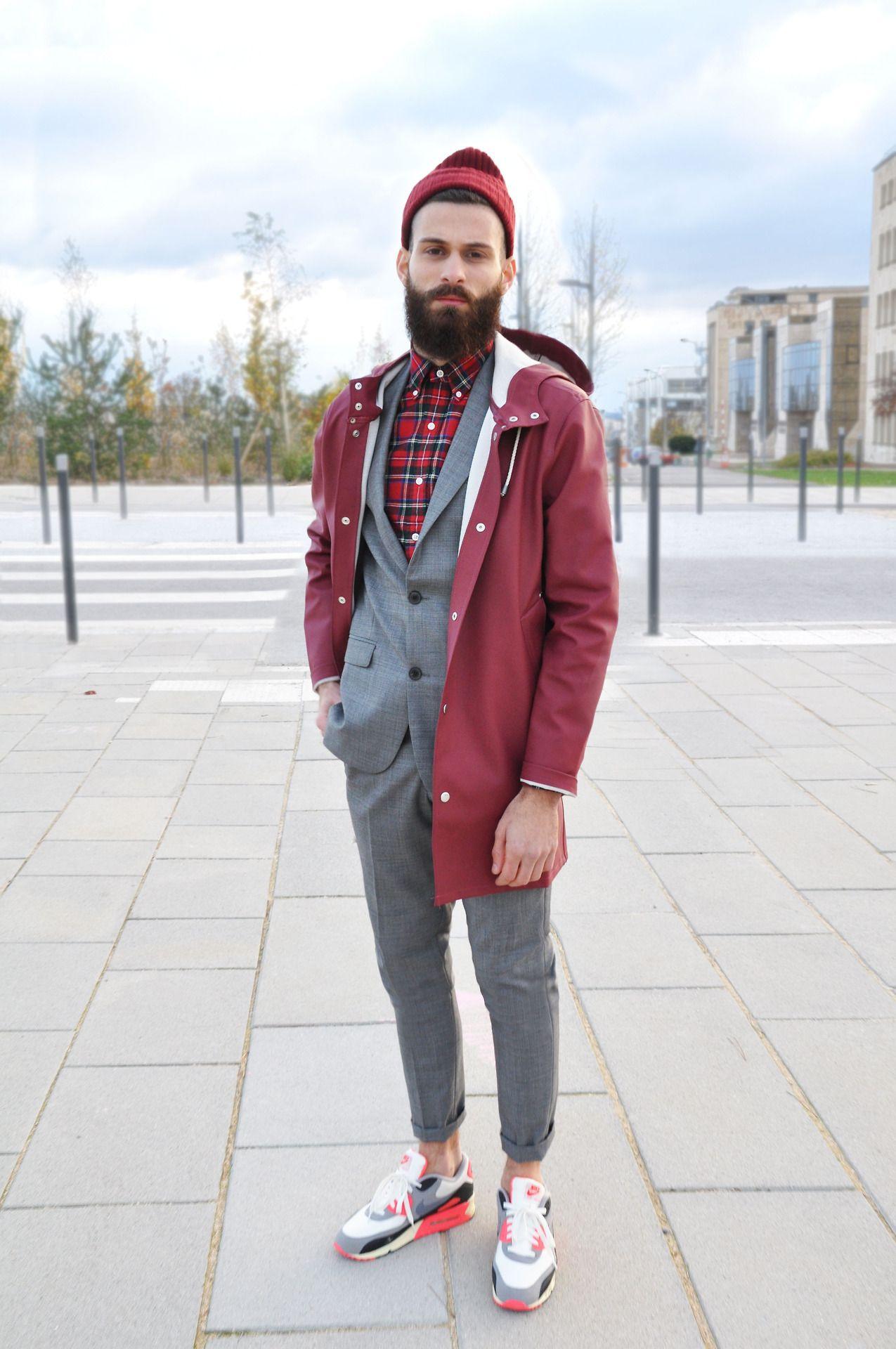 Alkarus wearing · Jacket Stutterheim · Suit Sandro