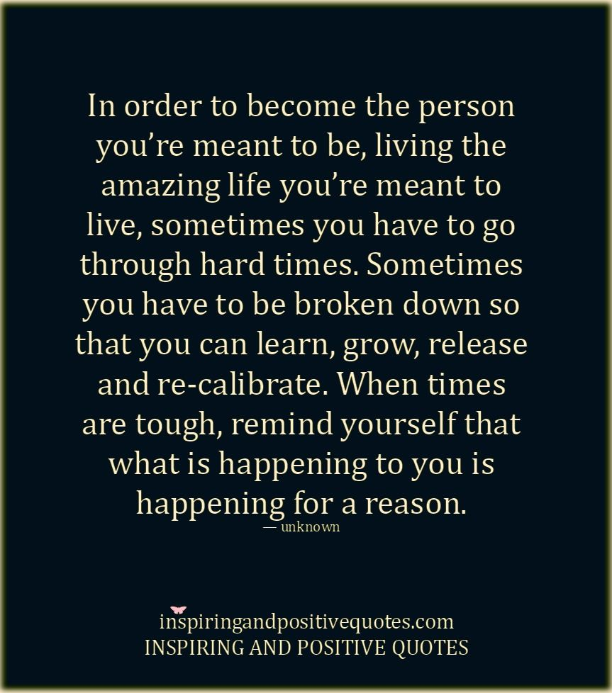 Everything Happens For A Reason Inspired Words Of Wisdom