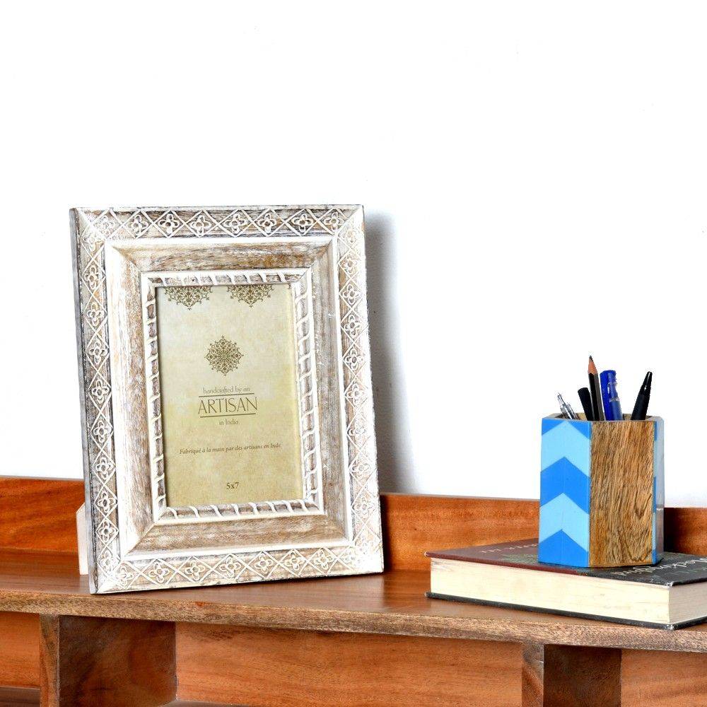 Clear water Distressed Wood Picture Frame Buy Online India   Photo ...