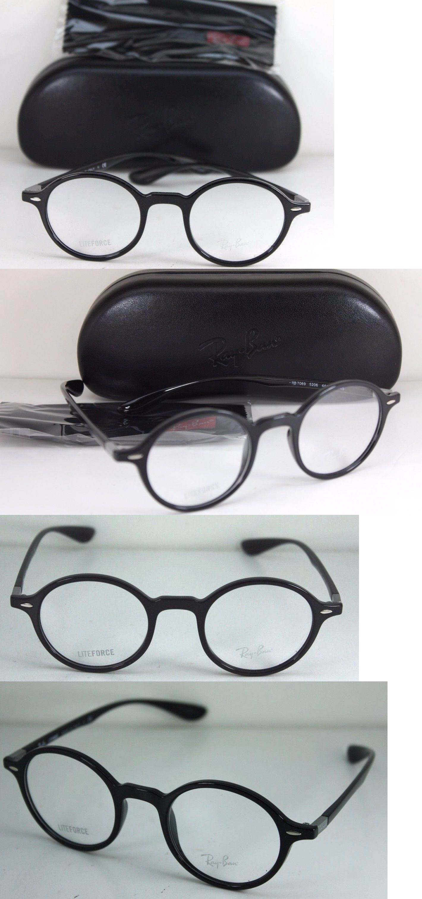 787d1814144 Fashion Eyewear Clear Glasses 179244  New Authentic Ray Ban Rb 7069 5206  Black Round Optical Eyeglass Rx Frame 46Mm -  BUY IT NOW ONLY   84.15 on  eBay!