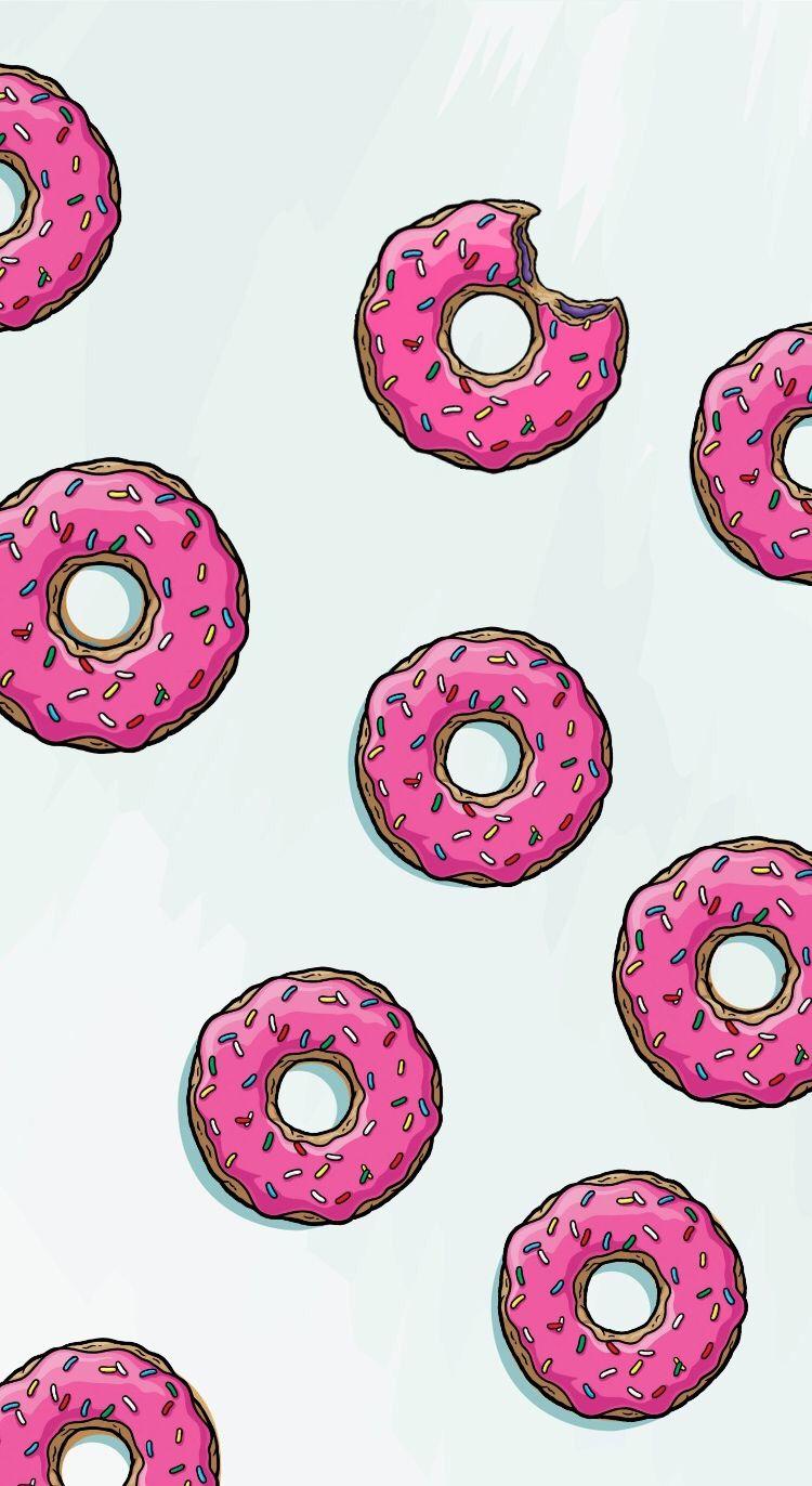 Donut background pink Backgrounds Pinterest Donut
