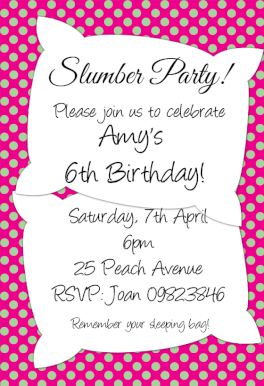 Slumber Party Free Printable Sleepover Party Invitation Template - Birthday party invitations free printable sleepover