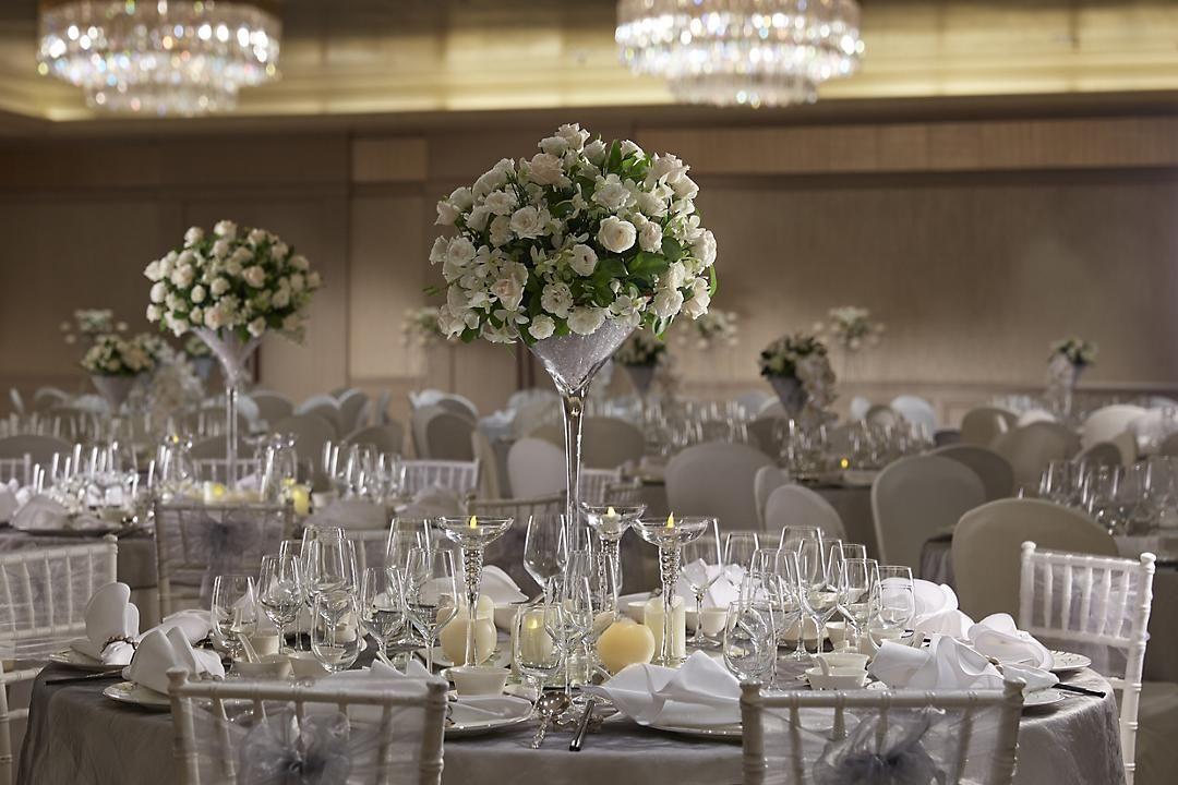 Luxe bruiloftsreceptie locatie Marina Bay Hotel Mandarin
