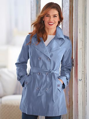 Classic Short Trench Coat (With images) | Short trench ...