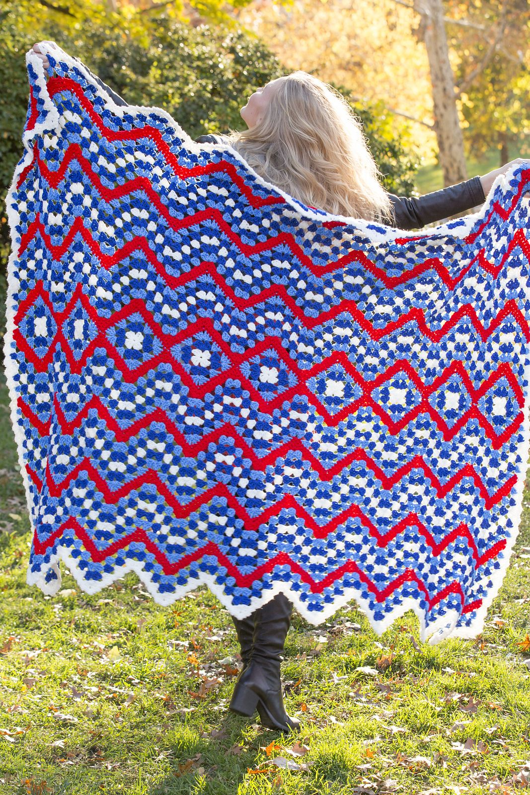 Ravelry: Patriotic Pride Throw pattern by Katherine Eng   GRANNYS ...