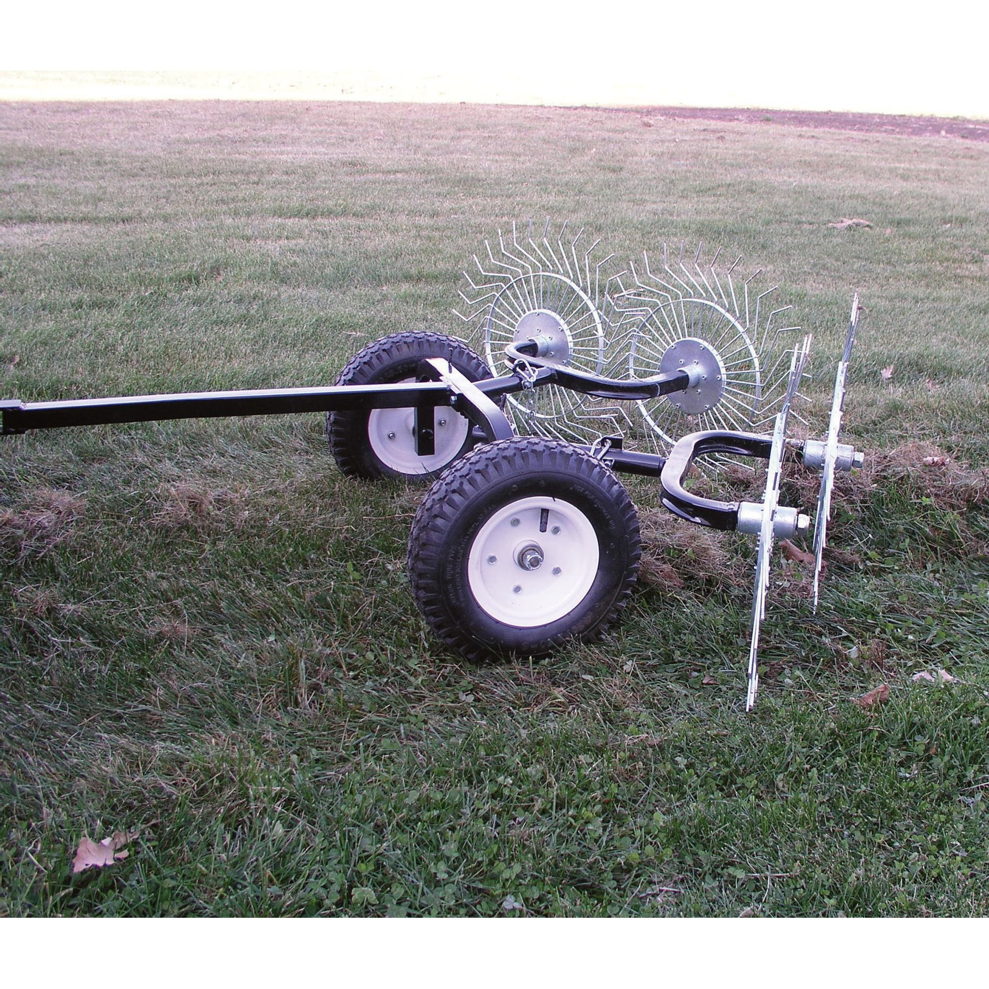 Pull Behind Rake For Lawn Tractor : The yard tuff pull behind dethatching rake turns your atv