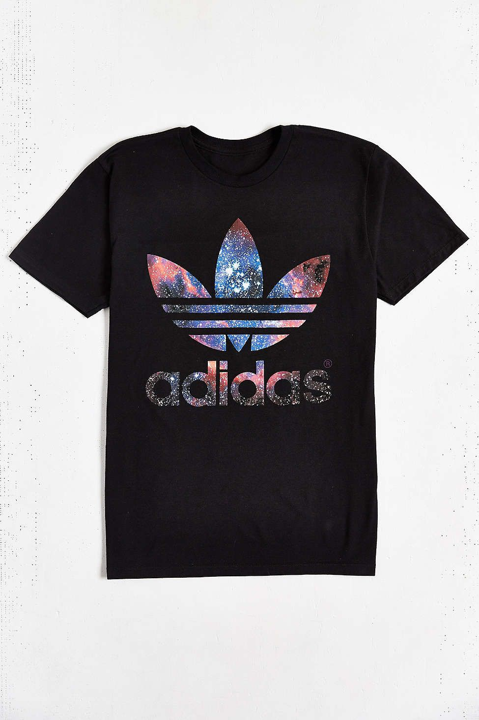 adidas Originals Galaxy Trefoil Tee - Urban Outfitters  41ff32832e6