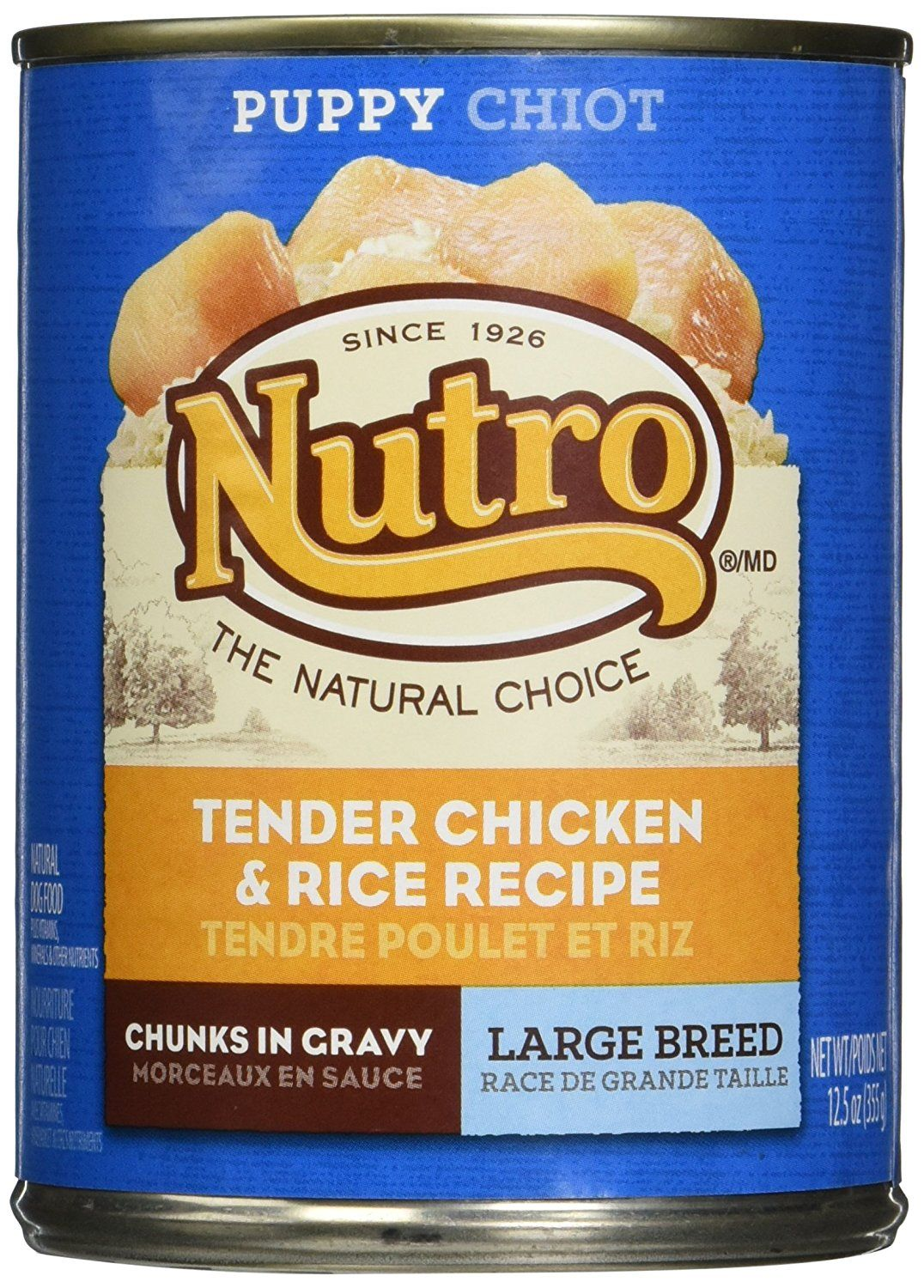 Nutro ultra large breed puppy wet dog food chicken and