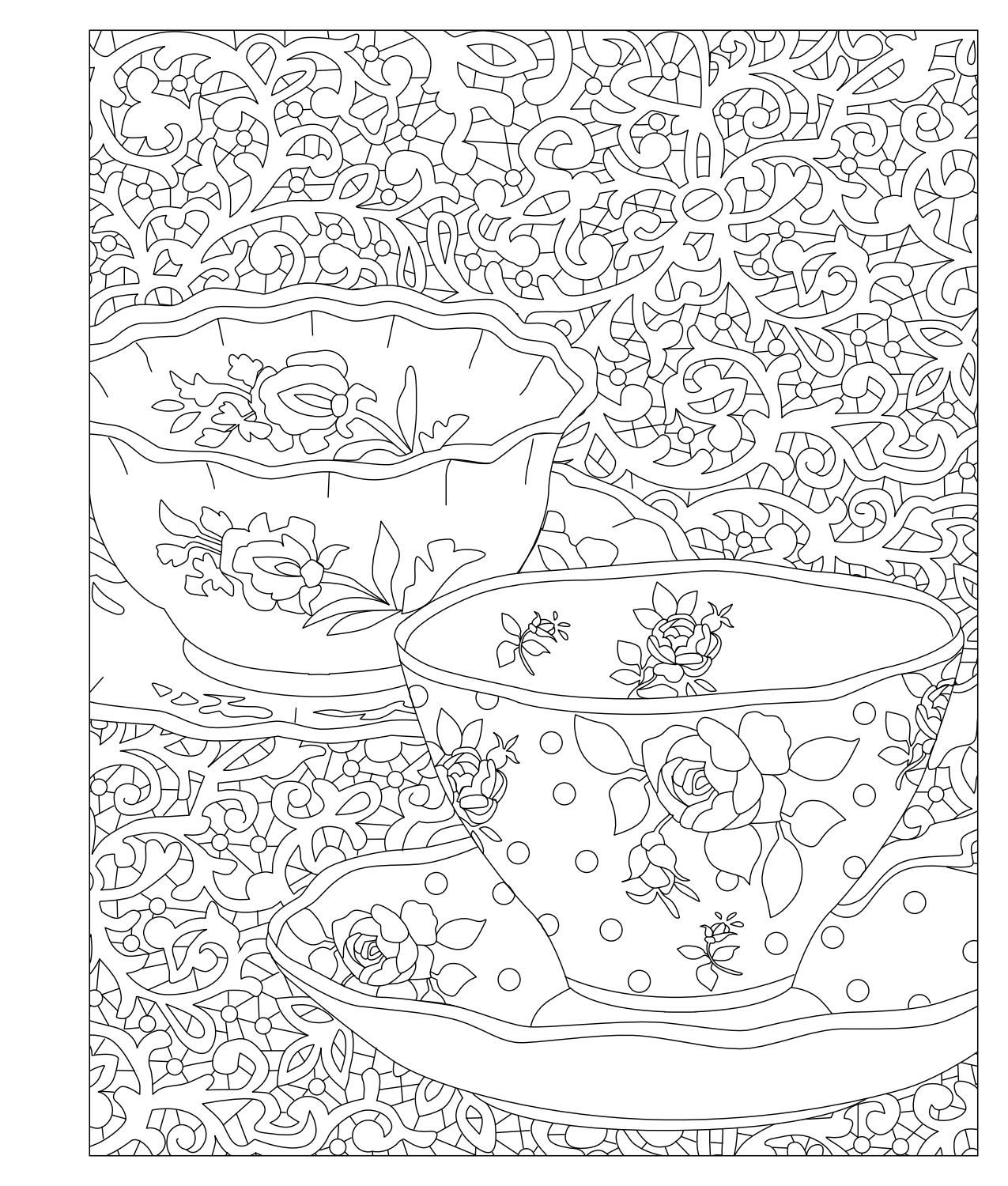 Elegant Tea Party Coloring Book | Pinterest | Coloring books, Tea ...