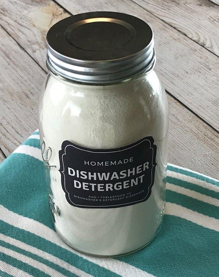 DIY Natural Dishwasher Detergent One Essential Community