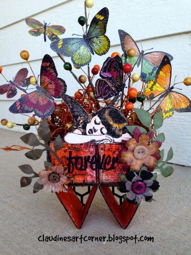 Team ATB &100 Proof Press Block Hop : Exploding Butterfly ATB by Claudine Criner | @ArtTheBlock