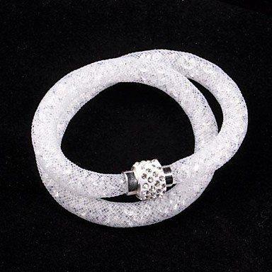 Trendy wikkelarmbanden in wit kleur unieke ontwerp