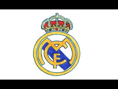 Como Dibujar El Escudo Del Real Madrid Paso A Paso Futbol Espanol Cf Youtube Escudo Del Real Madrid Logotipo Del Real Madrid Jugadores Del Real Madrid