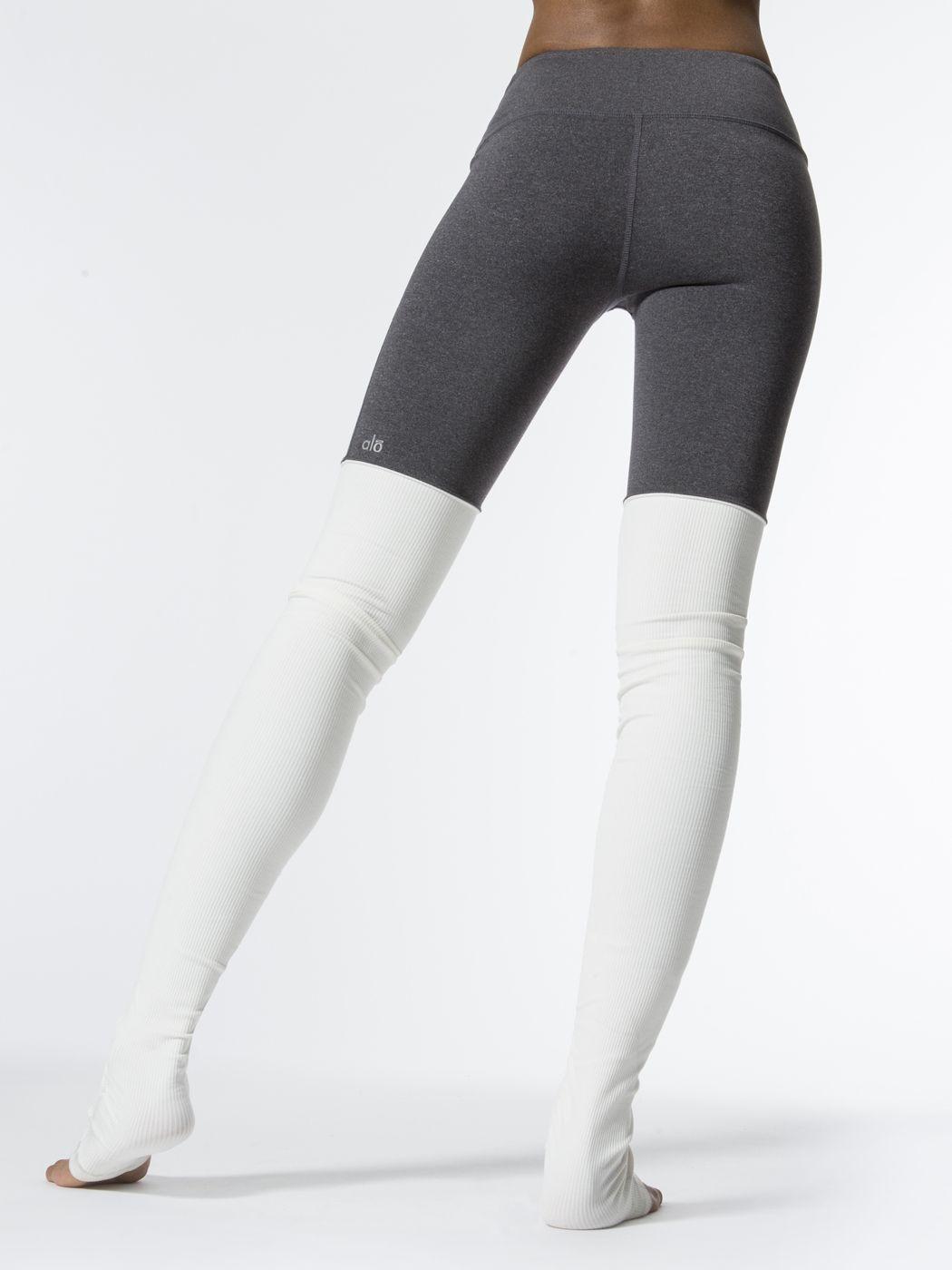 7aa326e0a7d9a ALO YOGA Goddess Legging Stormy Heather/Natural LEGGINGS