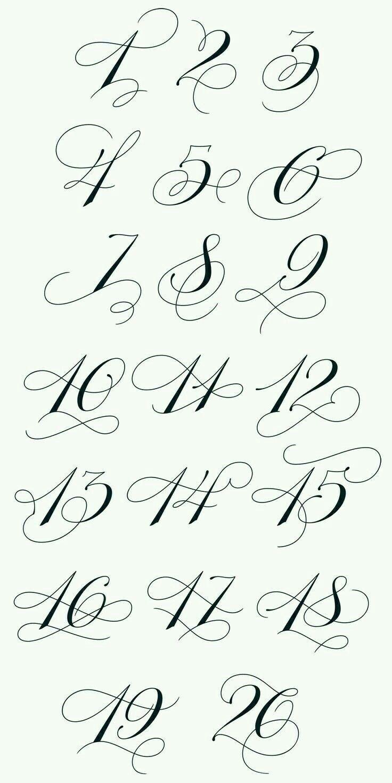 Nummer 12 Tattoo Schrift Idee Nummer Schrift 2