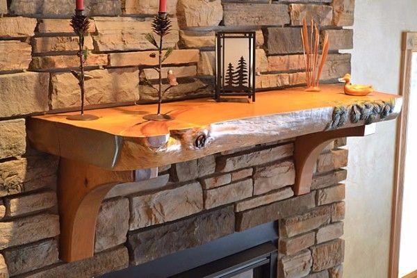 7 Wood Fireplace Mantel Reclaimed Rustic Mantels Shelf