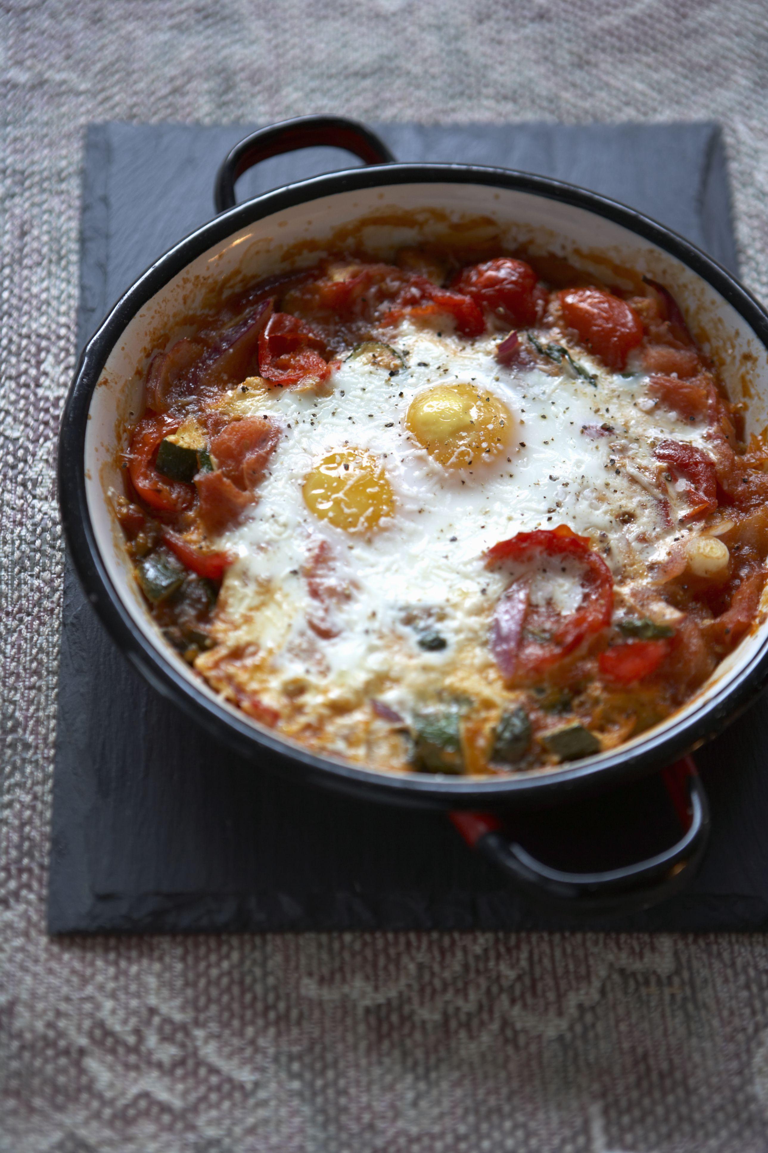 Spanish Eggs in Purgatory #spanishmeals