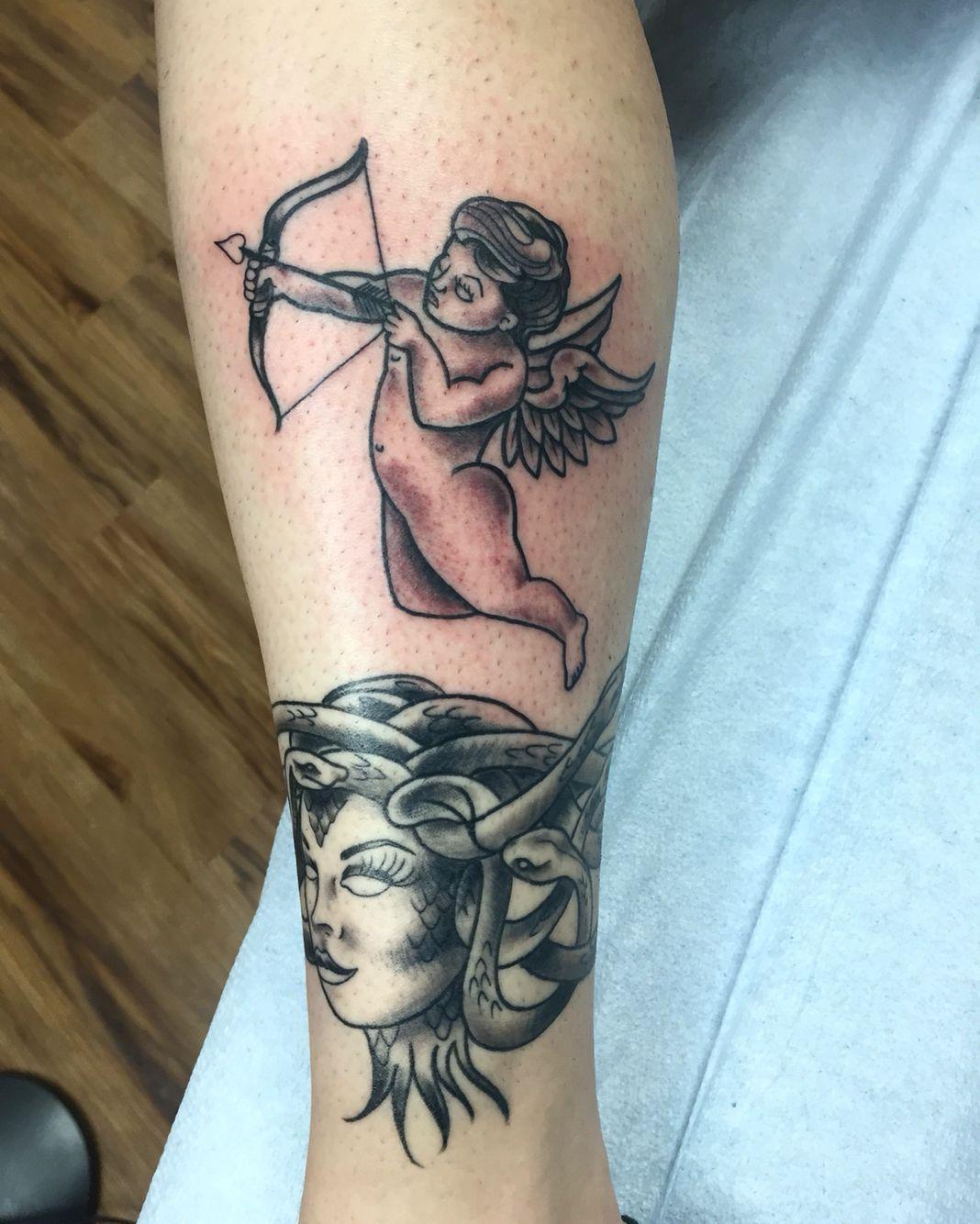 6b5a6e3400b6a Cupid tattoo | Tattoos | Cupid tattoo, Tattoos, Tattoo designs