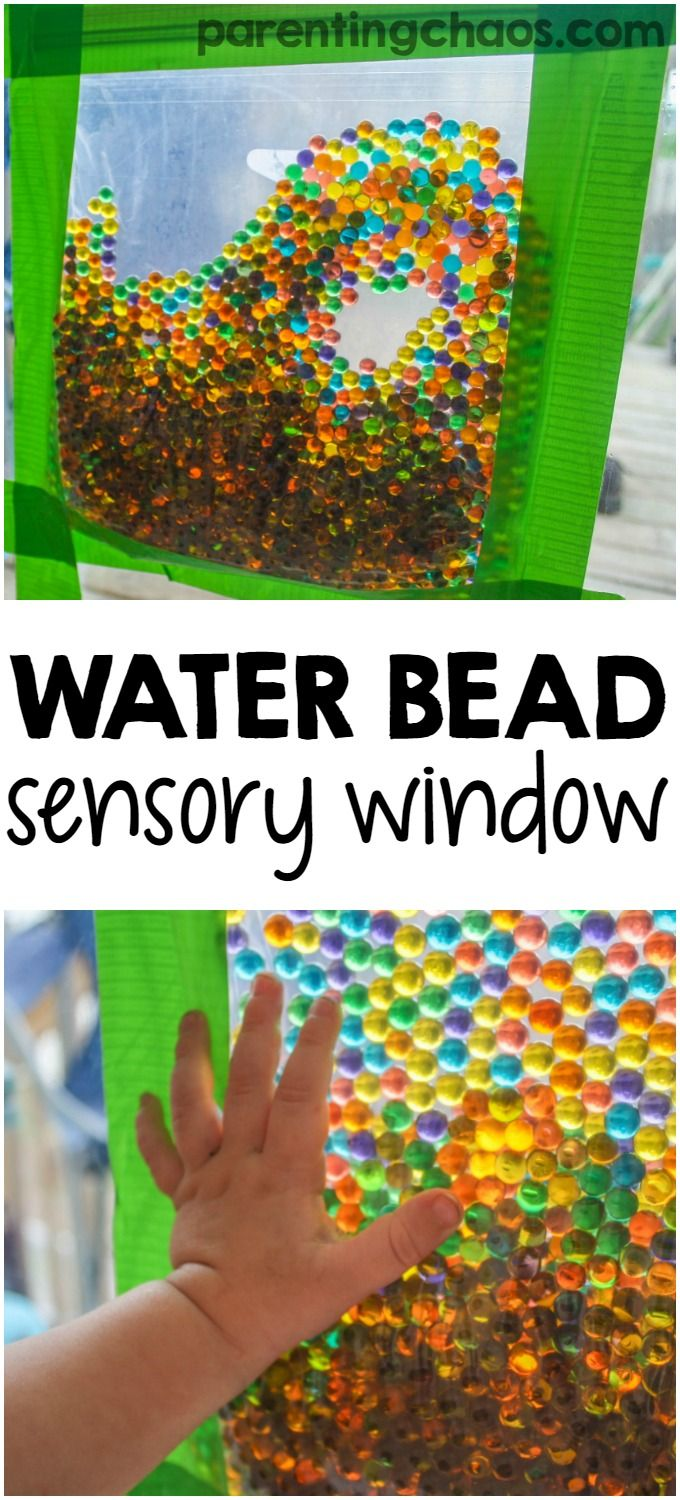 Water Beads Sensory Window Bag #sensorythings