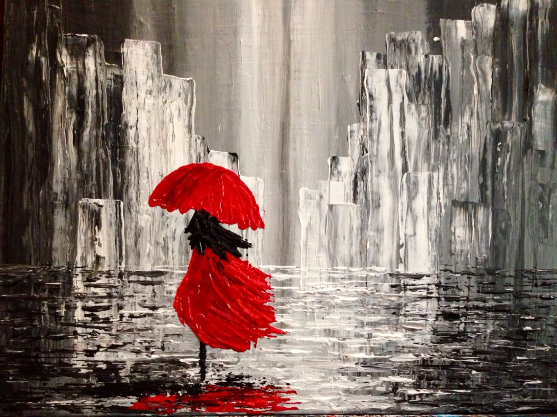Caminando Bajo La Lluvia Canvas Painting Painting Art