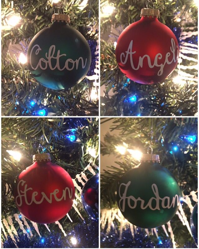 Personalized Christmas ornaments. $5 $3 individual initials (2 max) Message  me for orders - Personalized Christmas Ornaments. $5 $3 Individual Initials (2 Max